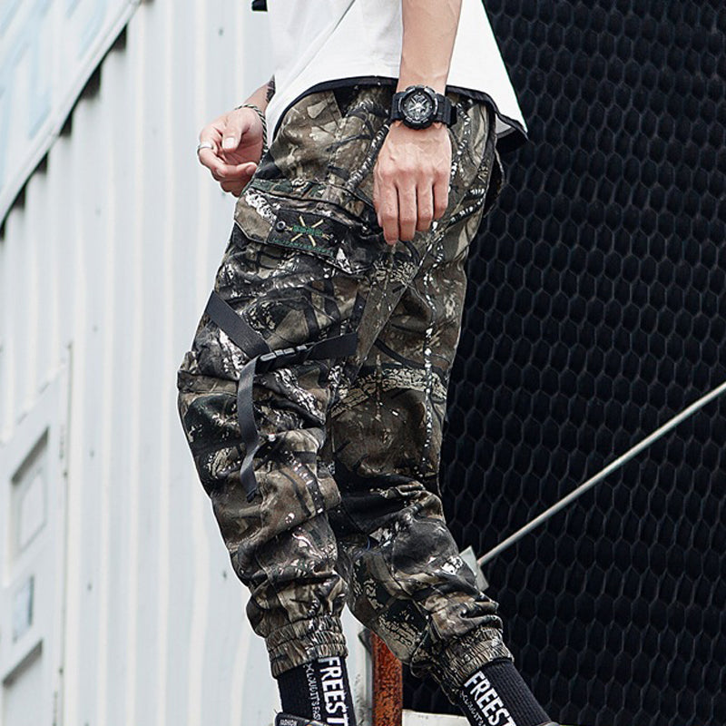 Men Street Camo Tapered Jogger Trousers