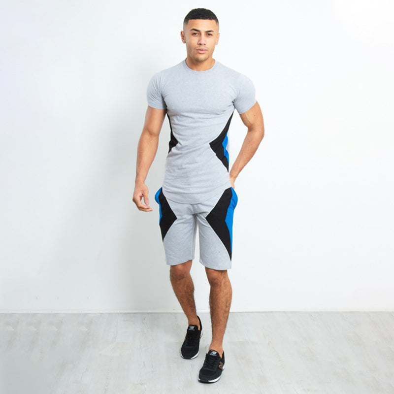 Men Outdoor Sports Leisure Short Sleeve Suit