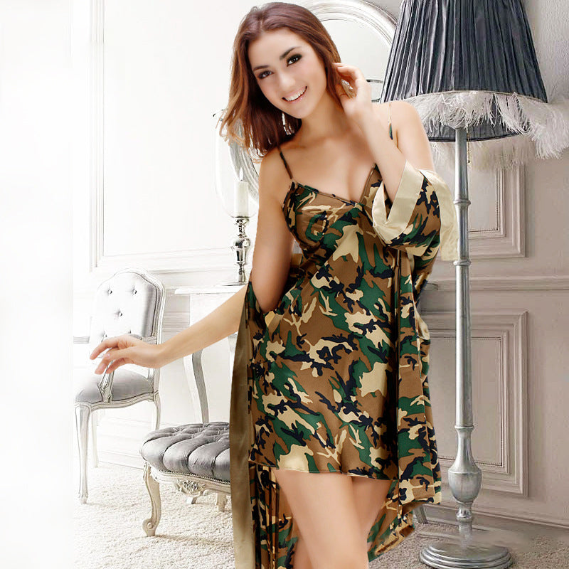 Couple Soft Loungewear Pajamas Casual Homewear Camouflage