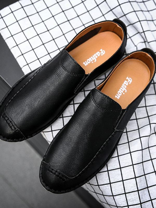 Solid Soft Slip-on Casual Flat Shoes