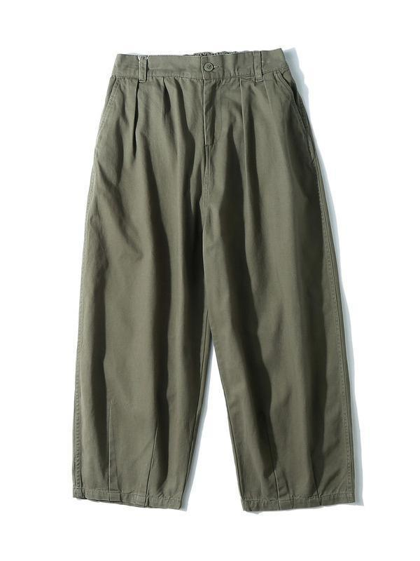 Men's Loose Solid Wide Leg Pants