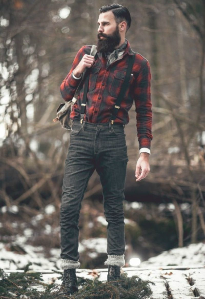 Men Traditional Plaid Wild Style Shirt