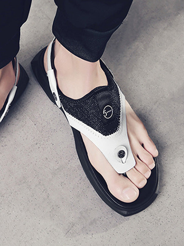 Men Leather Sandal Flip Flops