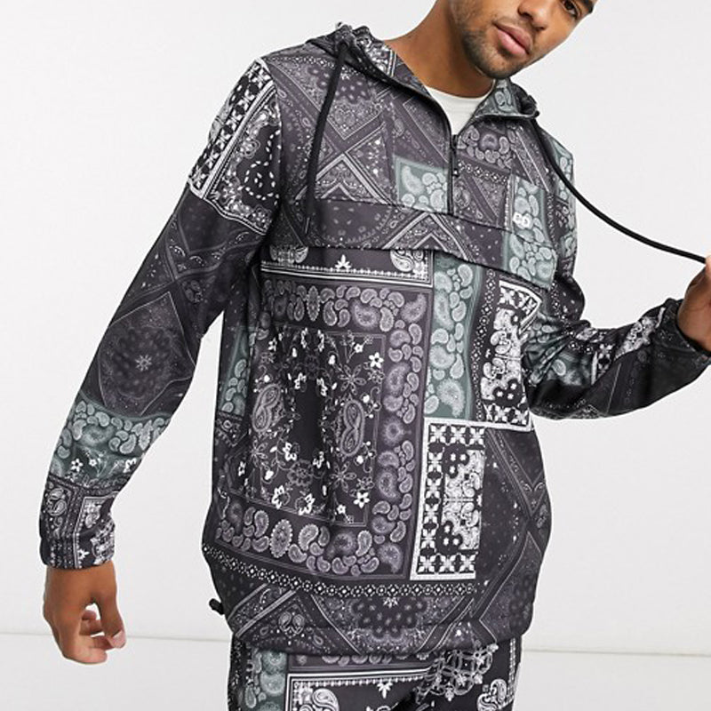 Printed Two-Piece Track Top With Bottom Suit