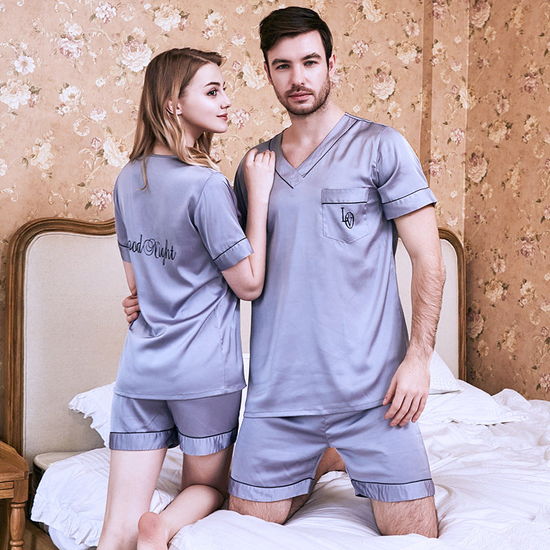 Couple Soft V-Neck Loungewear Pajamas Casual Homewear