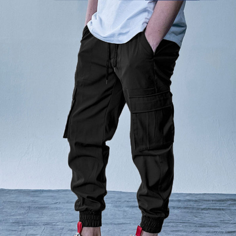 Mens Casual Joggers Multi-Pockets Sport Pants