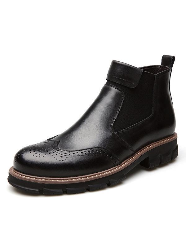 Solid Vintage Breathable Casual Martin Boots