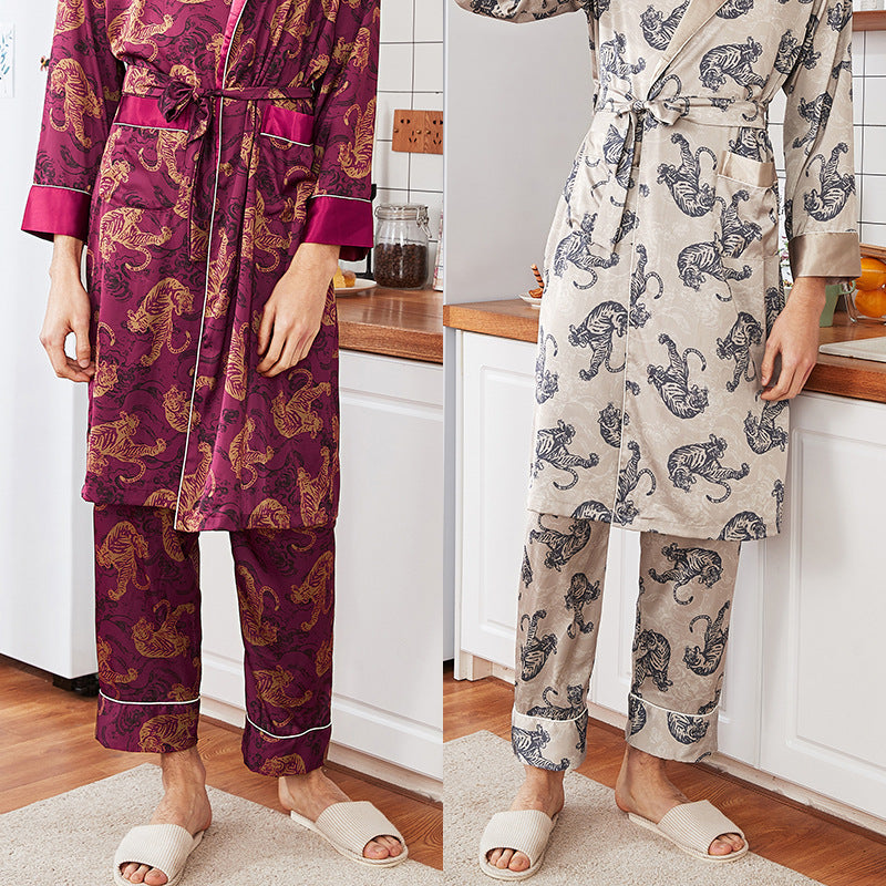 Men Soft Long Pajamas Pants Loungewear