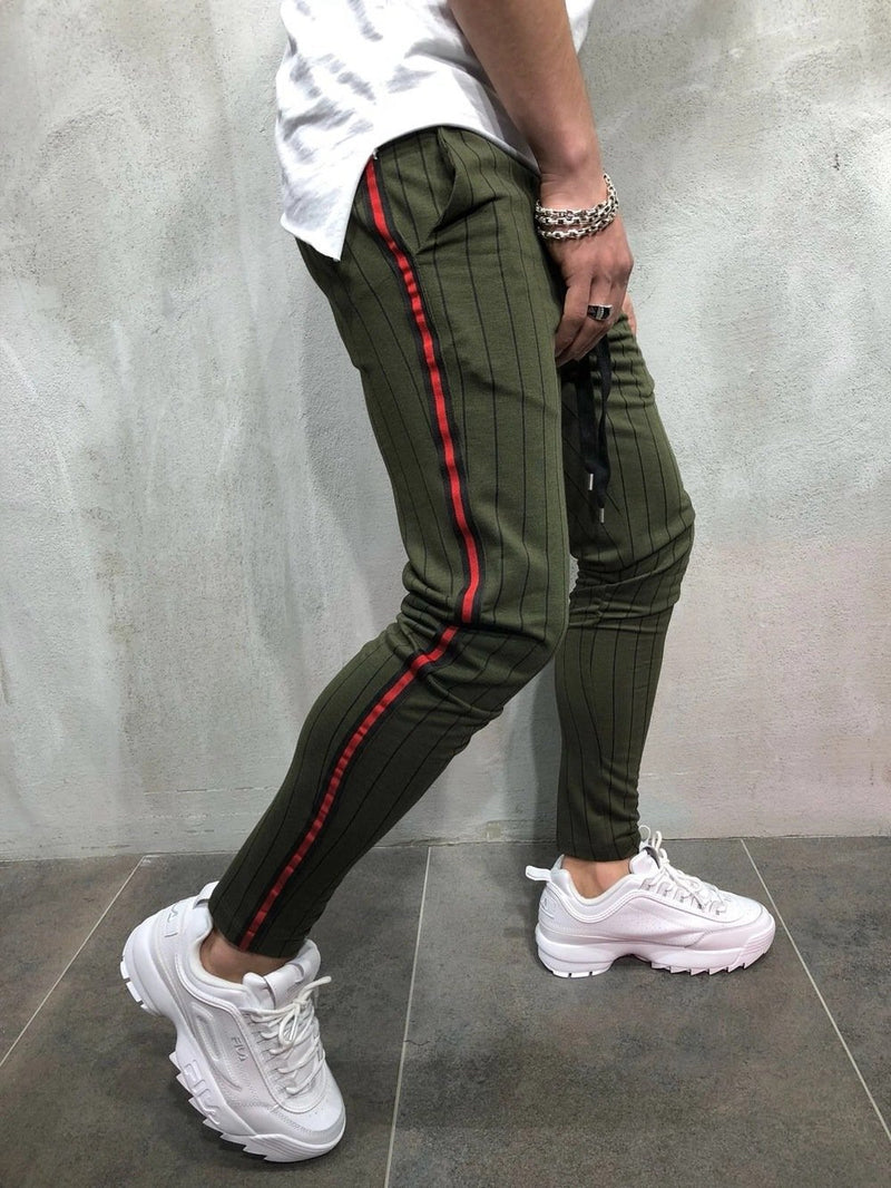 Men Stripe Printing Sport Pants