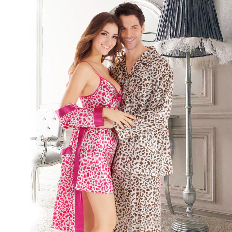 Couple Soft Loungewear Pajamas Casual Homewear Leopard