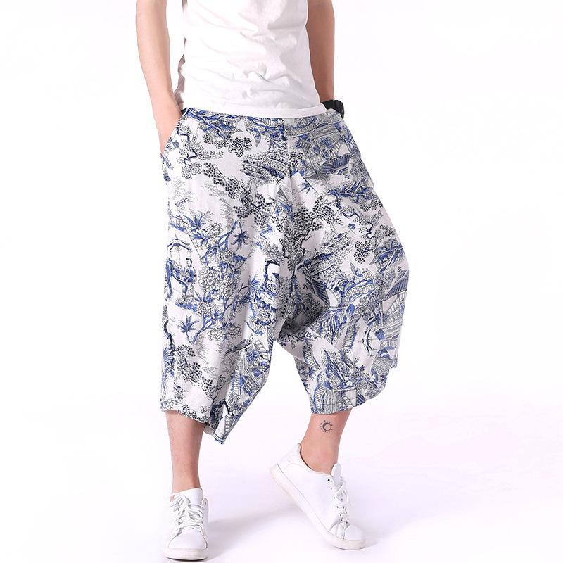 Men Plain Casual Harem Pants