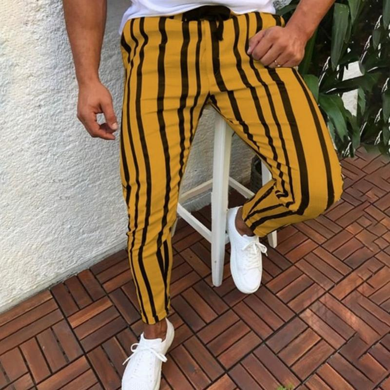 Men Cool Striped Pants