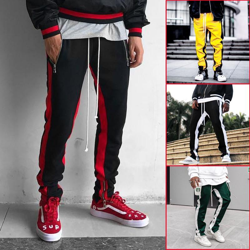 Men Sport Colorblock Trousers
