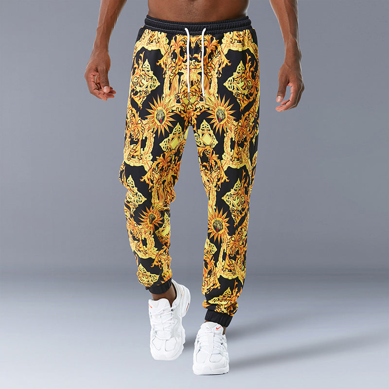 Straight Sweatpants Palace Casual Printed Men Trousers