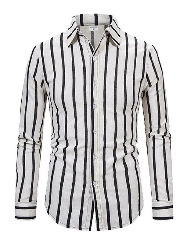 Men Striped Long Sleeves Shirt