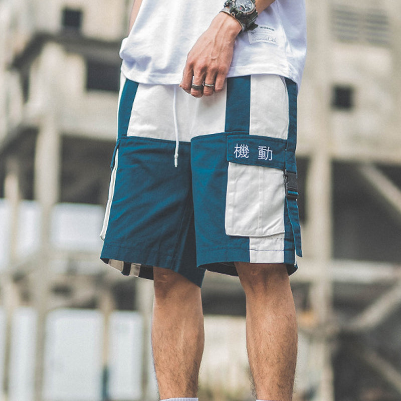 Mens Casual Patchwork Sweatpants Short Bottoms