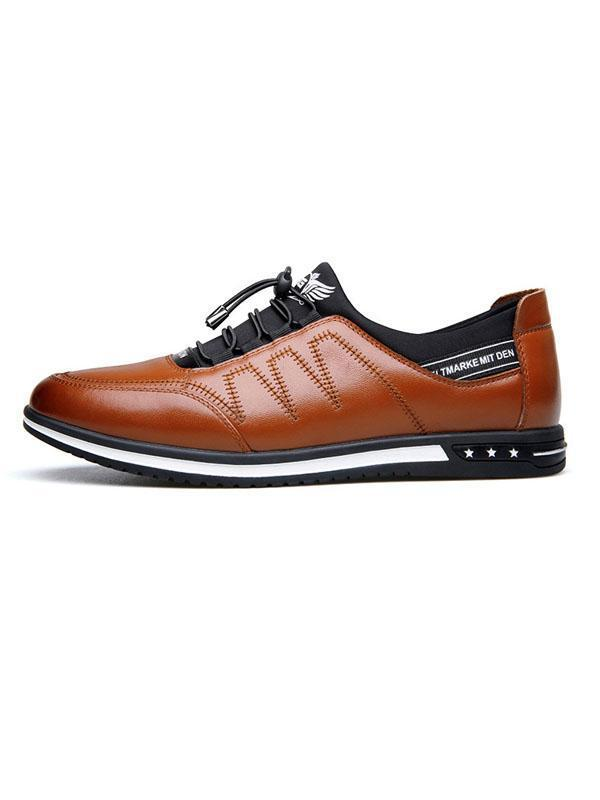 Men Lace-up Casual Flat Shoes