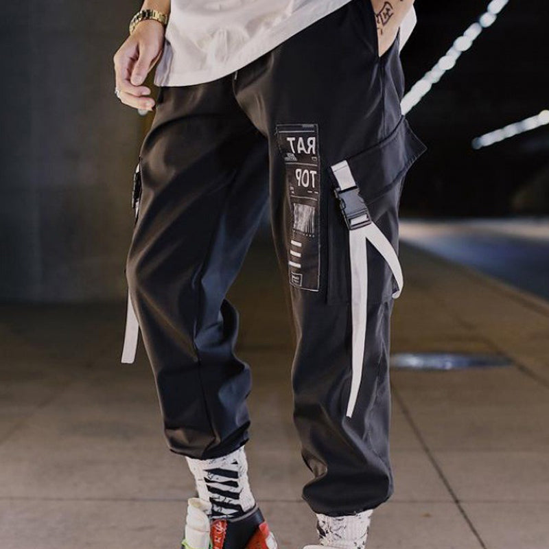 Mens Street Style Tapered Jogger Trousers