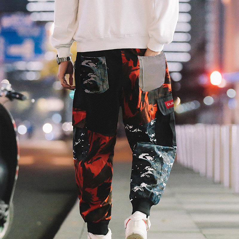 Men Camo Hip-Hop Explorer Jogger Trousers