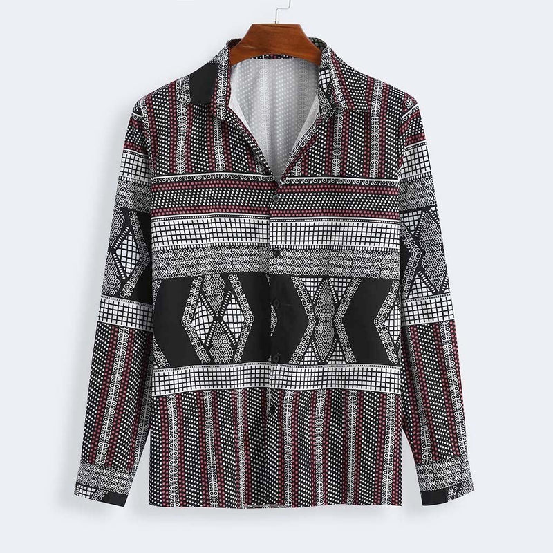 Men Printed Long Sleeves Shirt