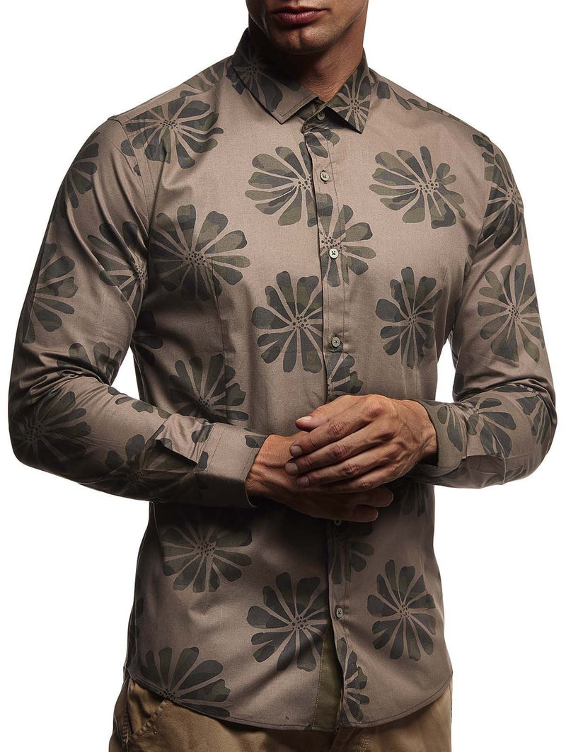 Men Flowers Printed Blouses