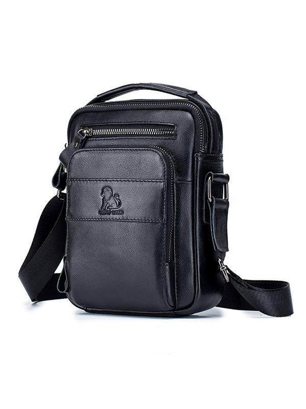 Men Business Zipper Multi-layer Pocket Crossbody Bag