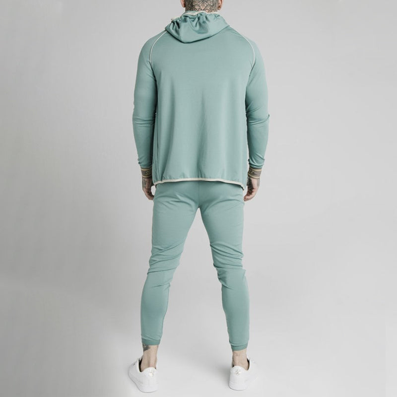 Men Two Piece Set Track Sweatshirt Suit