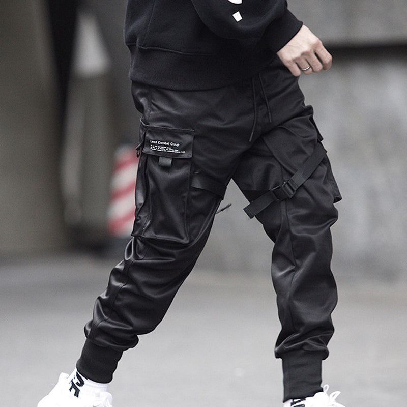 Mens Casual Joggers Multi-Pockets Cargo Pants