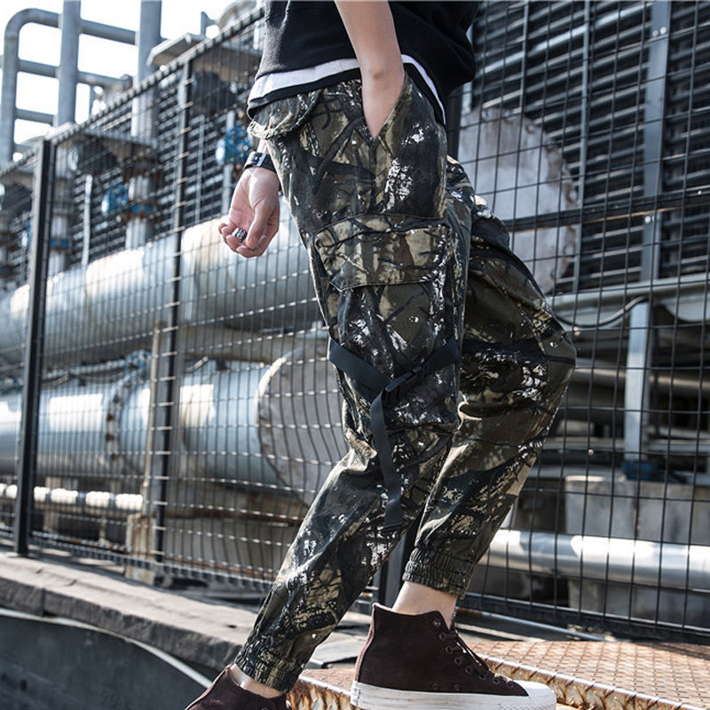 Men Camo Cargo Explorer Jogger Trousers