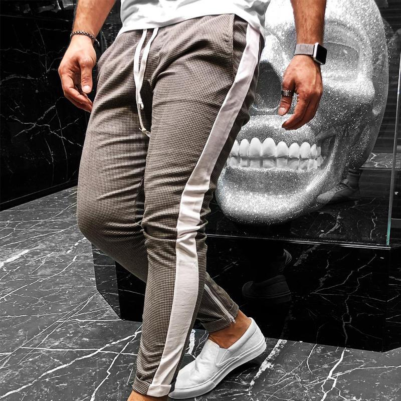 Men Tapered Split-Joint Trousers