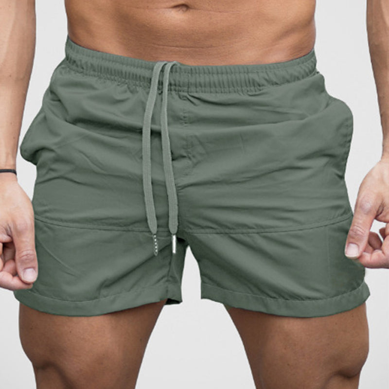 Men Solid Summer Simple Comfortable Shorts Swimming Trunks