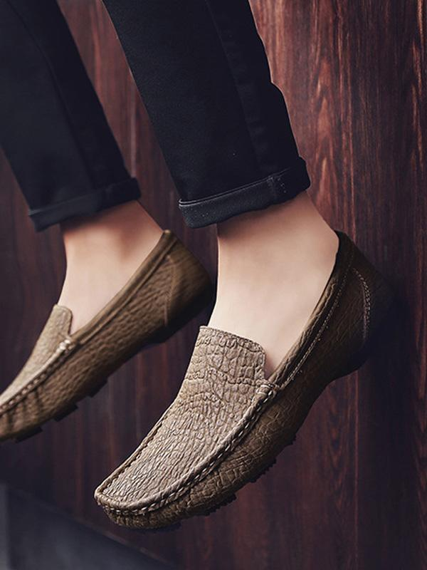 Solid Slip-on Casual Loafers Flat Shoes