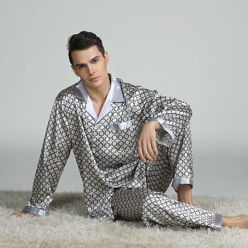 Men's Long Sleeves Printed Pyjamas