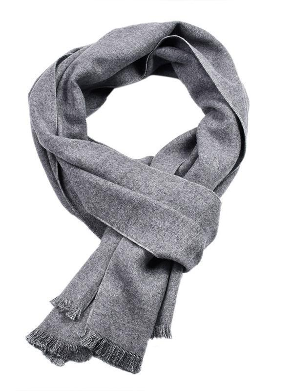 Men's Flannel Solid Scarfs