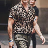 Men Animal Printed Short Sleeves Shirt