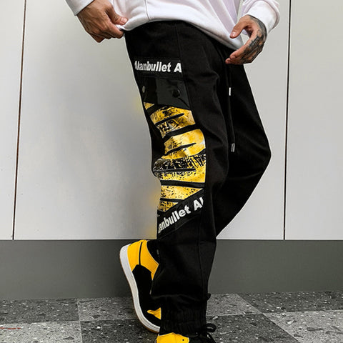 Men Plaid Loose Sports Pants
