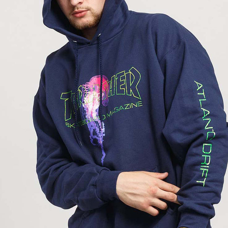 Men Printed Hoodie Cashmere Sweater