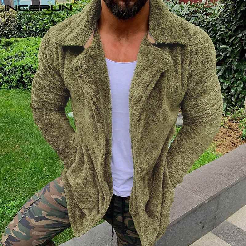 Men Fur Lapel Jacket