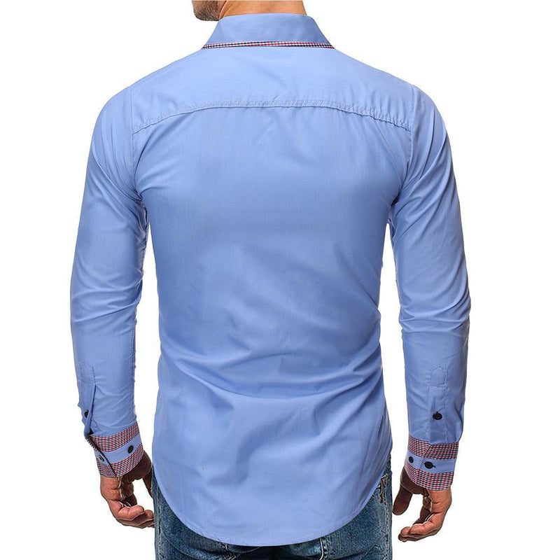 Men's Cotton Long Sleeve Blouse Shirts