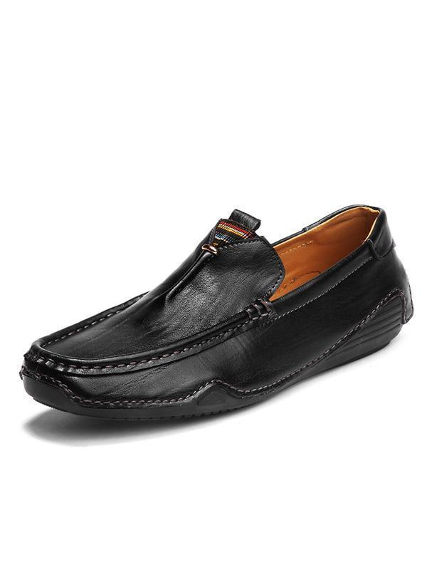 Solid Casual Simple Slip-on Loafers Shoes