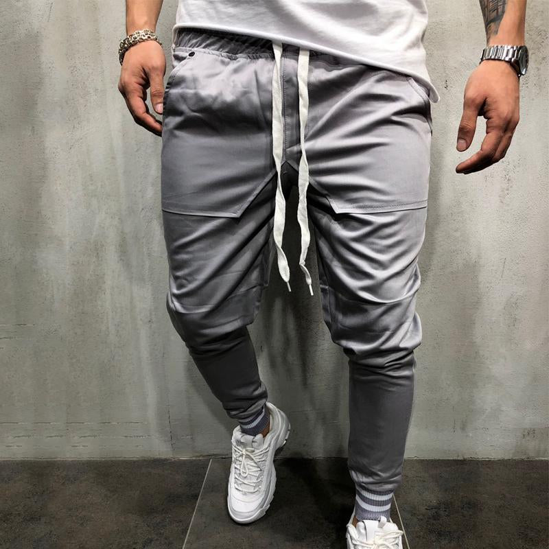 Men Slim Tapered Trousers