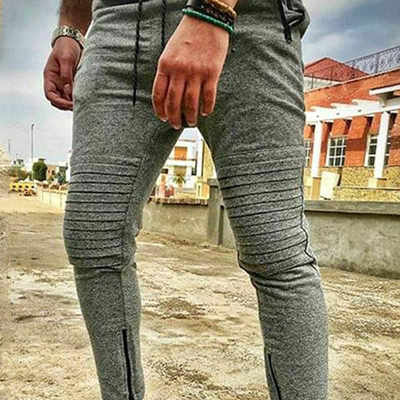 Men Waist Bandage Slim Pants