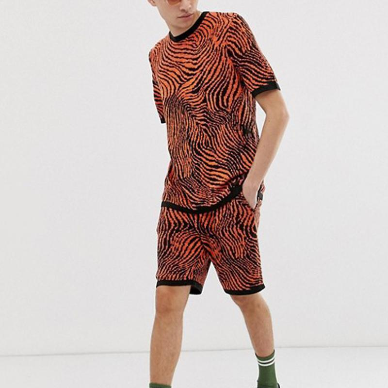 Men Animal Printed Two-Piece Sets