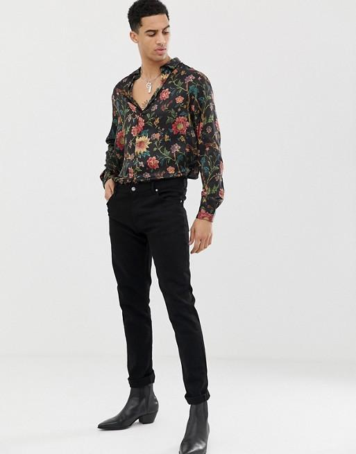 Men Floral Printed Blouses&Shirt Tops