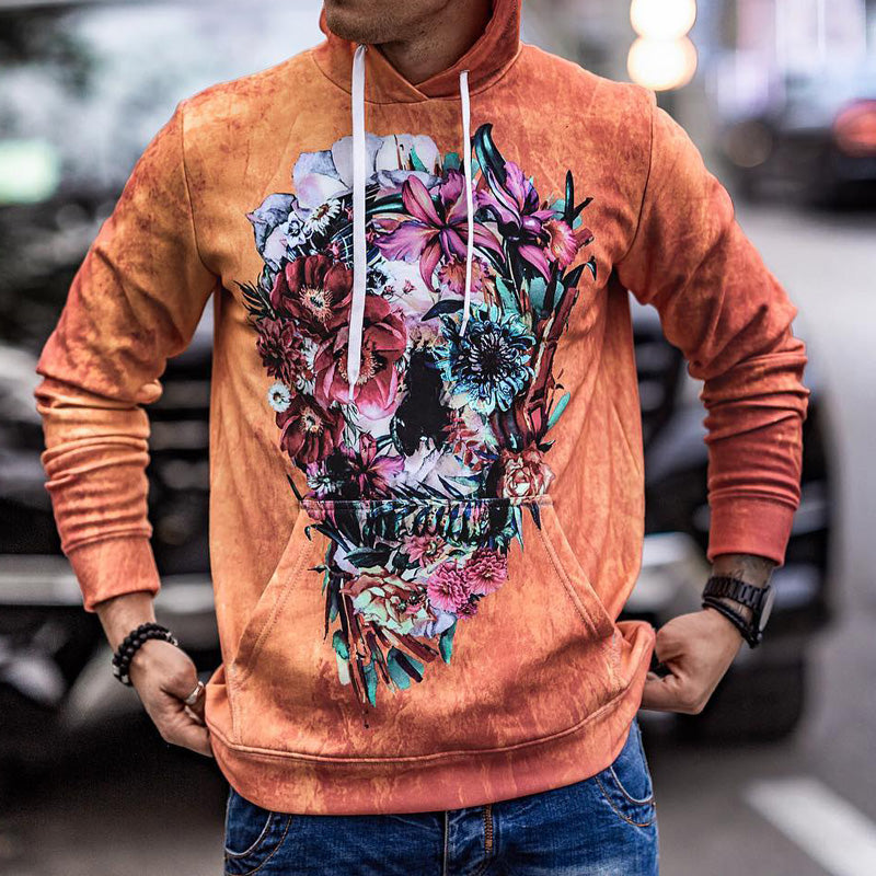 Pullover Floral Thick Spring Vintage Hoodies