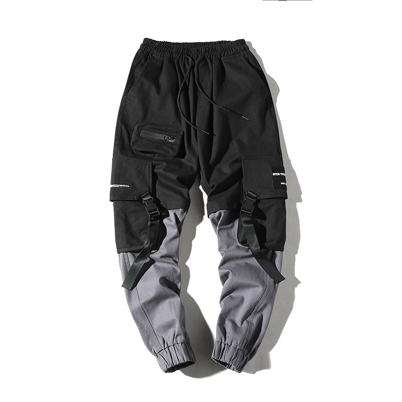 Mens Joggers Multi-Pockets Outdoor Jogging Cool Pant
