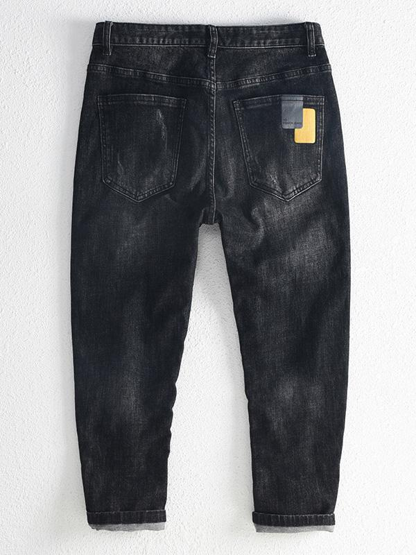 Men's Winter Fashion Denim Pants