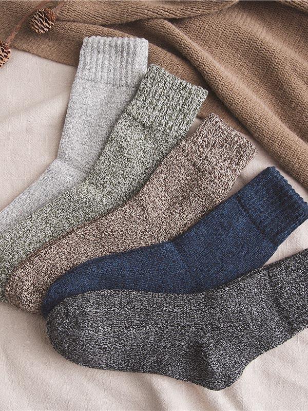 5Pairs Business Breathable Cotton Socks
