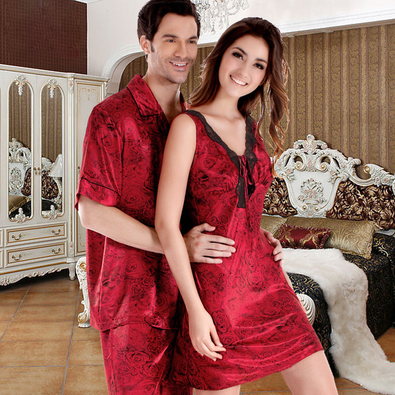 Couple Soft Loungewear Pajamas Casual Homewear
