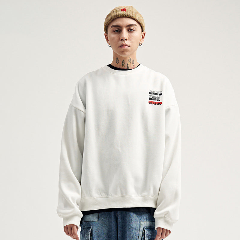 Loose Hip Hop Round Neck Sweater